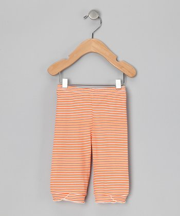Marigold Stripe Organic Capri Pants - Infant