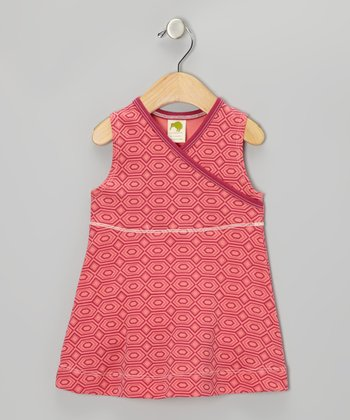 Pink Topaz Diamond Organic Surplice Dress - Infant & Toddler