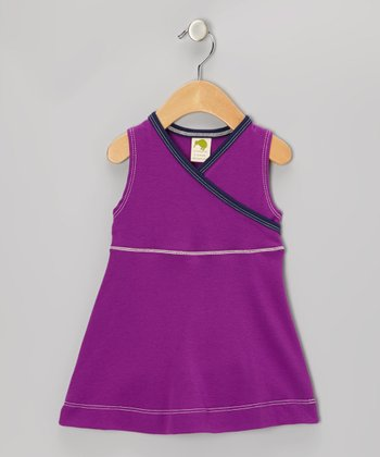 Violet Organic Surplice Dress - Infant
