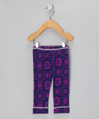 Violet Flora Organic Leggings - Infant