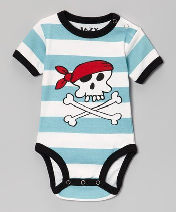 Blue Stripe Pirate Bodysuit - Infant