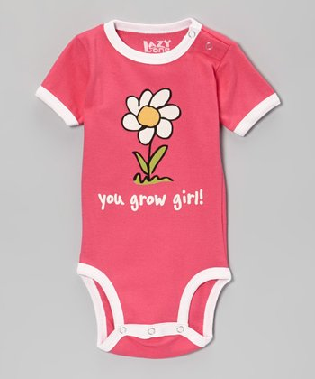 Pink 'You Grow Girl!' Bodysuit - Infant
