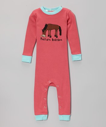 Pink 'Pasture Bedtime' Flapjack Playsuit - Infant