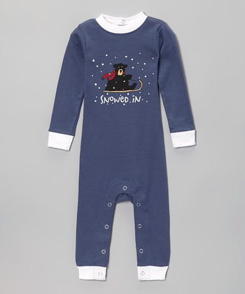 Blue 'Snowed in' Flapjack Playsuit - Infant