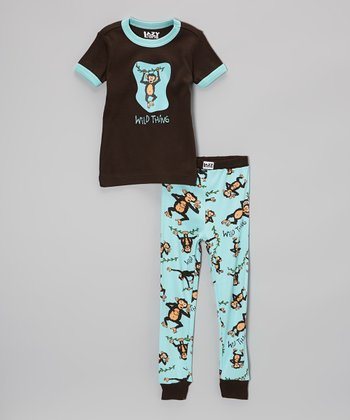 Brown 'Wild Thing' Pajama Set - Toddler & Kids