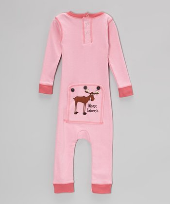 Pink Moose Caboose Flapjack Playsuit - Infant