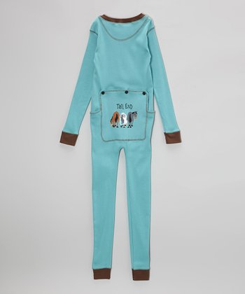 Blue & Black Tail End Pajamas - Toddler & Kids