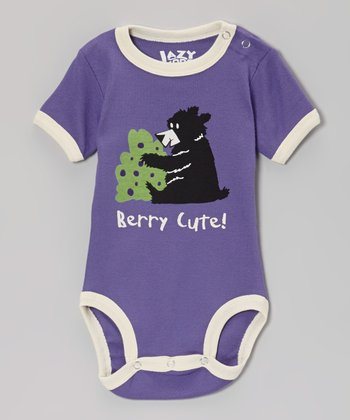 Purple 'Berry Cute' Bodysuit - Infant