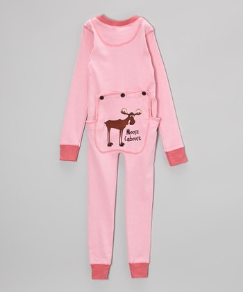 Pink Moose Flapjack Pajamas - Toddler & Kids
