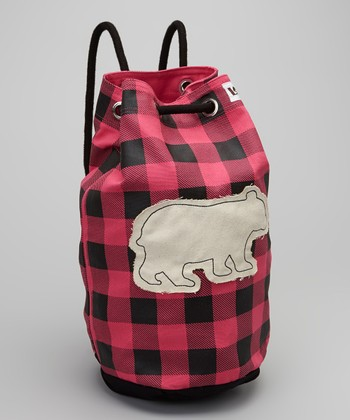 Pink Plaid Bear Tote