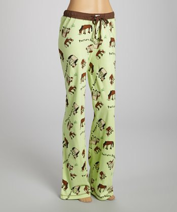 Green 'Pasture Bedtime' Pants - Women