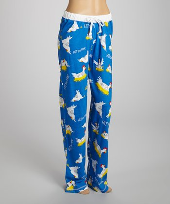 Blue 'Hit the Hey' Pants - Women