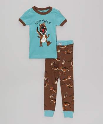 Blue 'Wide Awake' Pajama Set - Toddler & Boys