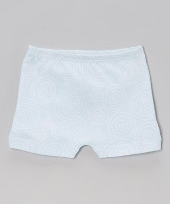 Blue Swirl Pocket Shorts
