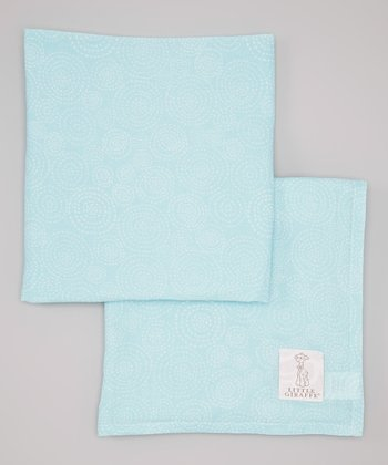 Aqua Muslin Swaddle Blanket - Set of Two
