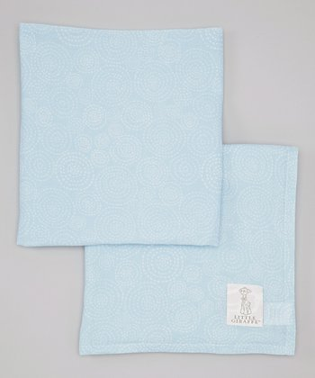 Blue Muslin Swaddle Blanket - Set of Two