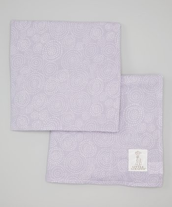 Lavender Muslin Swaddle Blanket - Set of Two