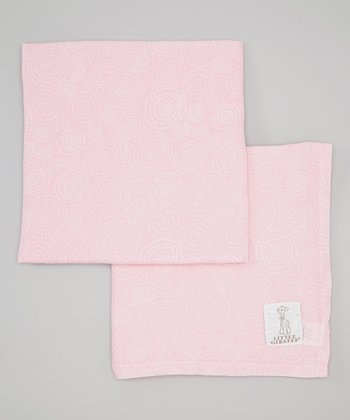 Pink Muslin Swaddle Blanket - Set of Two