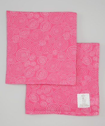 Raspberry Muslin Swaddle Blanket - Set of Two