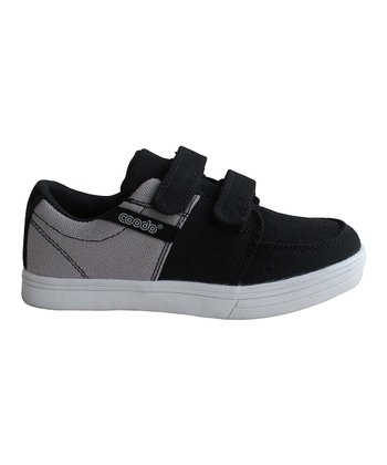 Black & Gray Double-Strap Sneaker