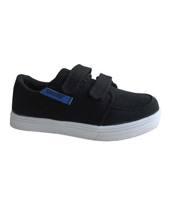 Black & Royal Blue Double-Strap Sneaker