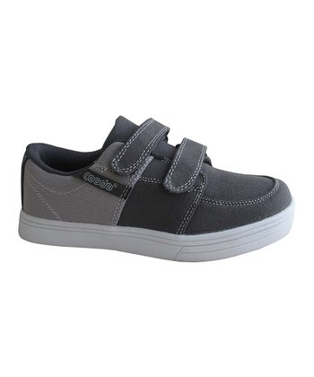 Dark Gray Double-Strap Sneaker