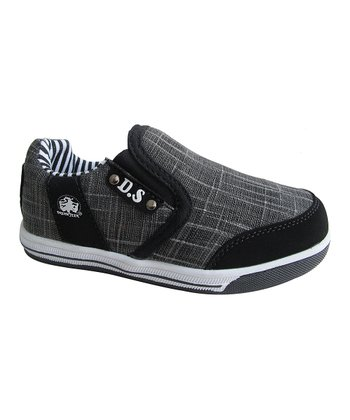 Black Stripe Slip-On Sneaker