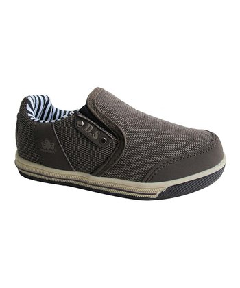 Brown Stripe Slip-On Sneaker