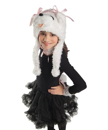 White Curly Poodle Dress-Up Set