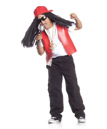 Red Lil Hip Hop Star Wig Hat