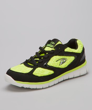 Pro Player Black & Neon Yellow Annabell Sneaker