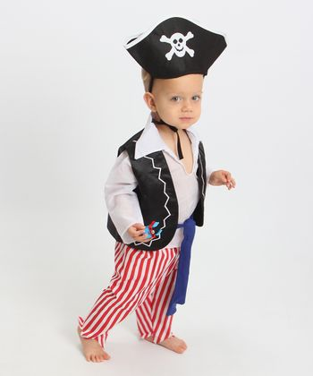 Black & Red Pirate Dress-Up Set