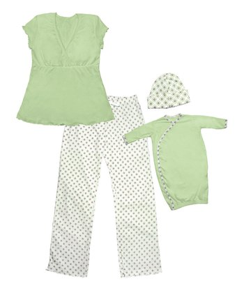 Green Mommy and Me Gift Set - Kids & Women