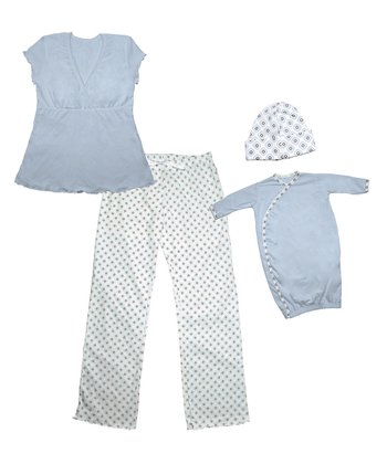 Blue Mommy and Me Gift Set - Kids & Women