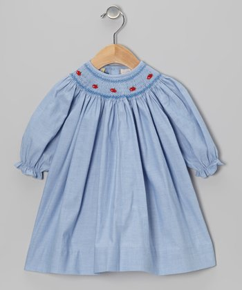 Blue Apple Bishop Dress - Infant