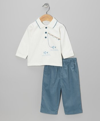 Blue Fish Top & Pants - Infant