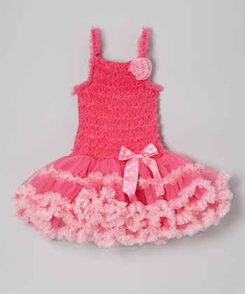 Hot Pink Ruffle Tutu Dress - Infant, Toddler & Girls