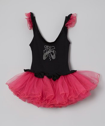 Black & Fuchsia Ballet Tutu Dress - Infant, Toddler & Girls