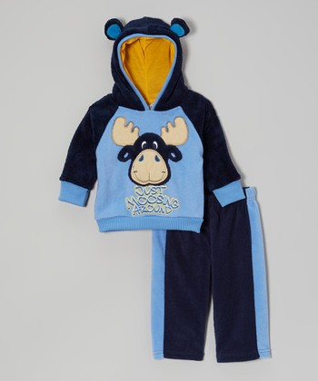 Blue Moose Hoodie & Track Pants - Infant
