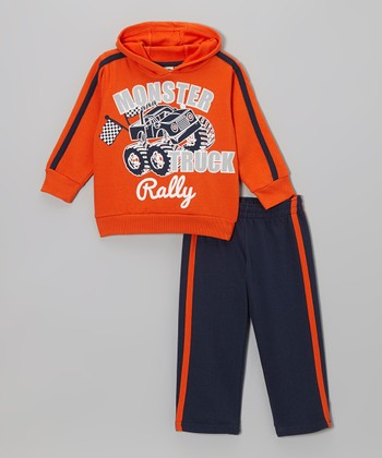 Orange Hoodie & Blue Track Pants - Toddler & Boys