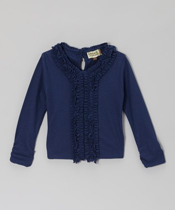 Marina Blue Ruffle Tee - Toddler & Girls