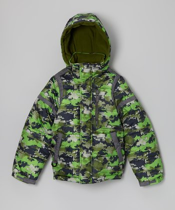 Green Camo F.O.G. Jacket - Boys