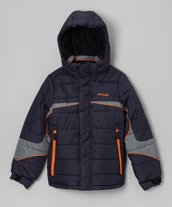 Navy 'F.O.G.' Jacket - Boys