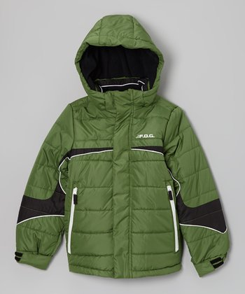 Green 'F.O.G.' Jacket - Boys