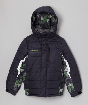 Navy Camo 'F.O.G.' Jacket - Boys