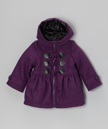 Purple Faux Wool Coat - Infant