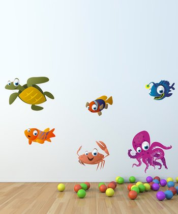 Sea Animals Wall Decal Set