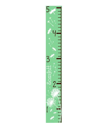 Sage Dandelion & Dragonfly Personalized Growth Chart