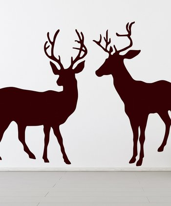 Brown Deer Herd Wall Decal