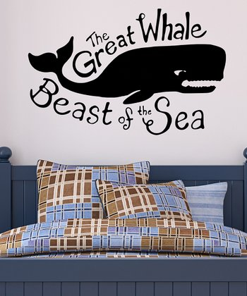 Black Whale Wall Decal